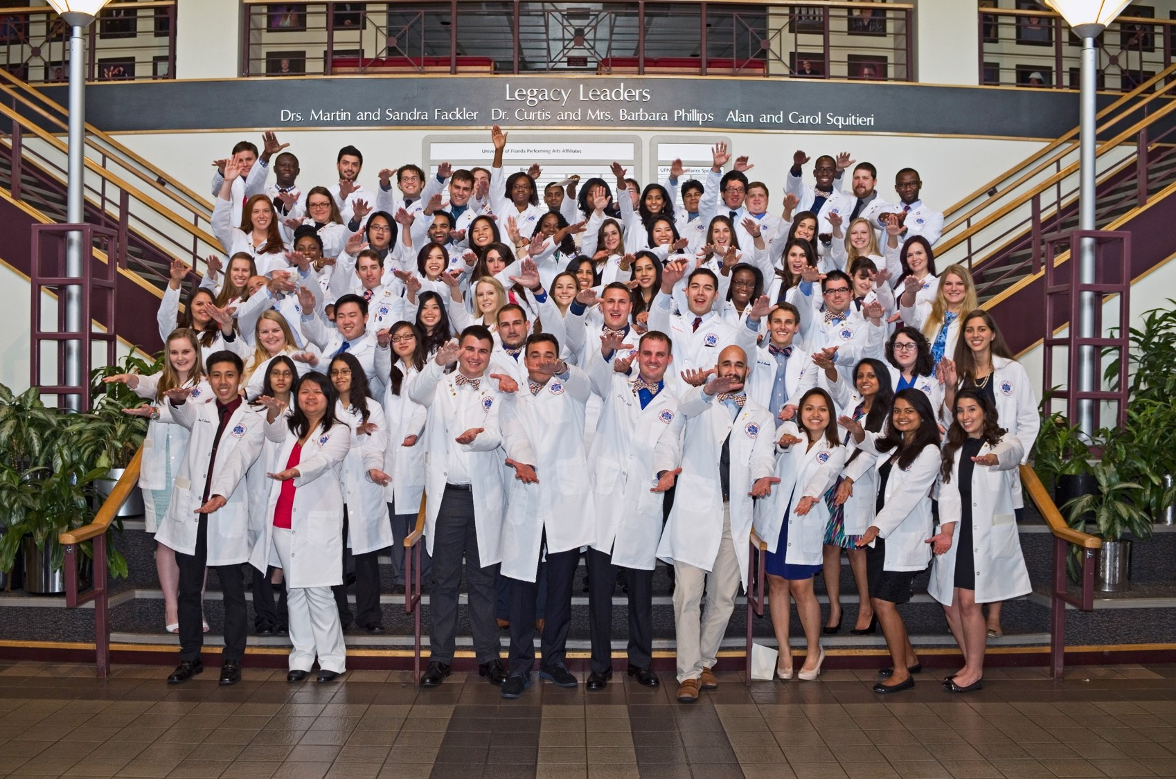 Pharmacy Class at their White Coat Ceremony